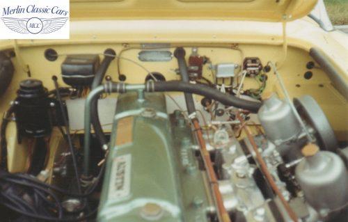 Austin Healey Restoration Photos Rare Primrose Over OE White 11