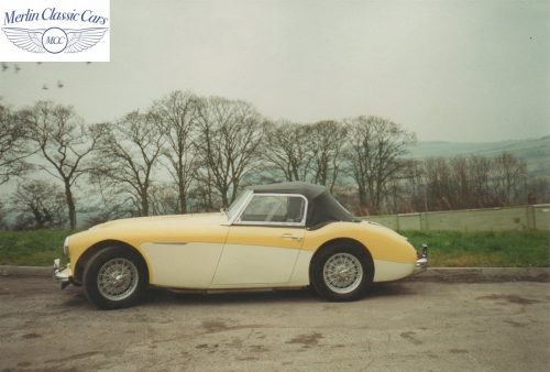 Austin Healey Restoration Photos Rare Primrose Over OE White 2
