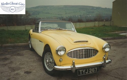 Austin Healey Restoration Photos Rare Primrose Over OE White 3