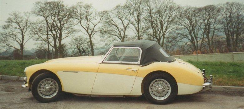 Austin Healey Restoration Photos Rare Primrose Over OE White 9