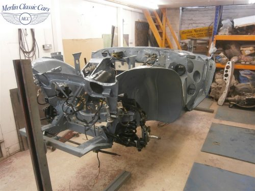 Austin Healey Rotisserie Restoration 100 6 1