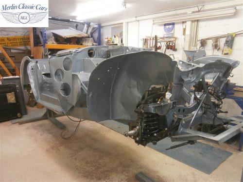 Austin Healey Rotisserie Restoration 100 6 2