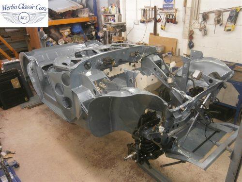 Austin Healey Rotisserie Restoration 100 6 5