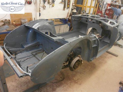 Austin Healey Rotisserie Restoration 100 6 6