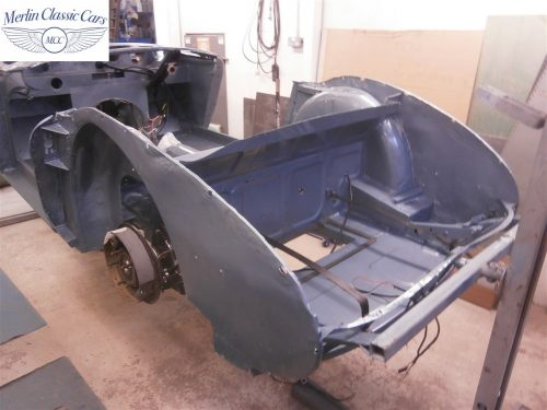 Austin Healey Rotisserie Restoration 100 6 7