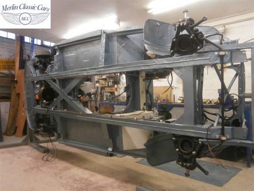 Austin Healey Rotisserie Restoration 100 6 8