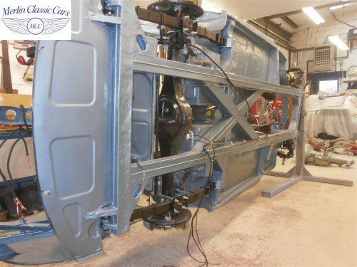 Austin Healey Rotisserie Restoration 100 6 9