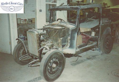 Austin Ten Cabriolet Restoration Photos 1