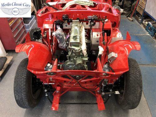 Austin Healey 100 6 Currently Under Restoration 33