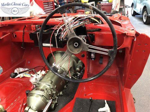 Austin Healey 100 6 Currently Under Restoration 35