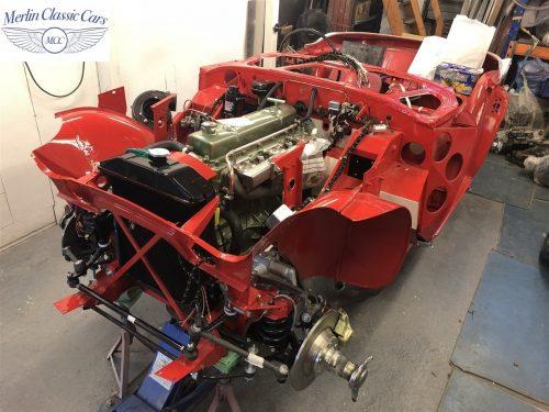 Austin Healey 100 6 Currently Under Restoration 39