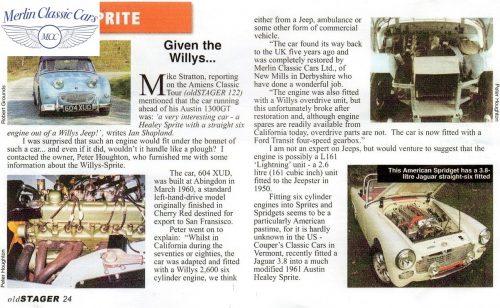Austin Healey Frogeye Sprite Willy's Jeep Engine 11