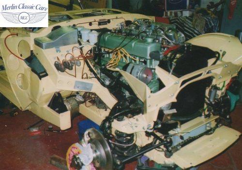 Austin Healey Race Car Engine Bay