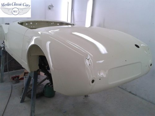 Austin Healey Sprite Restoration Old English White 3