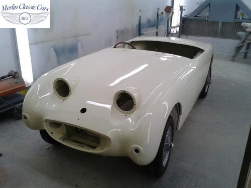 Austin Healey Sprite Restoration Old English White 6