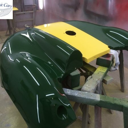 Lister Jaguar Race Car Paintwork Rear End Accident Bare Metal Respray 9