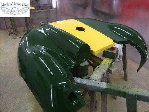 Lister Jaguar Race Car Paintwork Rear End Accident Bare Metal Respray 9
