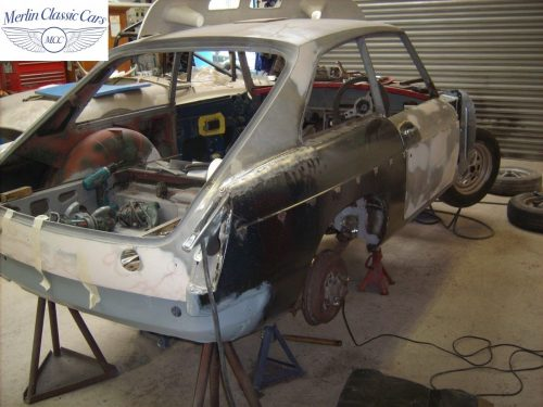 MGB GT Race Car Restoration 1967 16