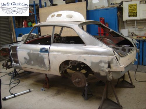 MGB GT Race Car Restoration 1967 17