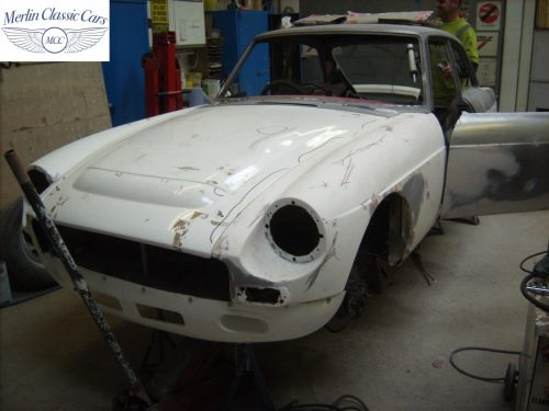 MGB GT Race Car Restoration 1967 18