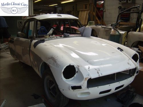 MGB GT Race Car Restoration 1967 25