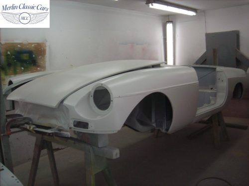 MGB Roadster New Bodyshell Bare Metal Paintwork 10