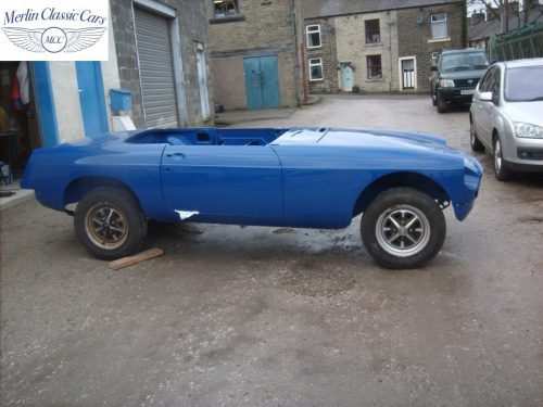 MGB Roadster New Bodyshell Bare Metal Paintwork 49