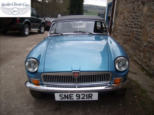 MGB Roadster Riviera Silver Blue Restored & Sold By Merlin 1