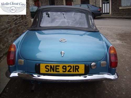 MGB Roadster Riviera Silver Blue Restored & Sold By Merlin 2