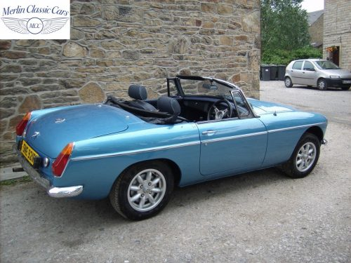 MGB Roadster Riviera Silver Blue Restored & Sold By Merlin 4