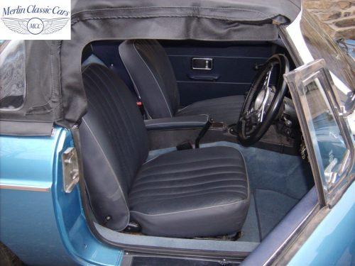 MGB Roadster Riviera Silver Blue Restored & Sold By Merlin 5