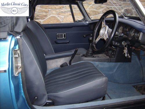 MGB Roadster Riviera Silver Blue Restored & Sold By Merlin 6