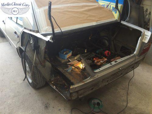 Mercedes 300E Accident Damage Repair Photos 5