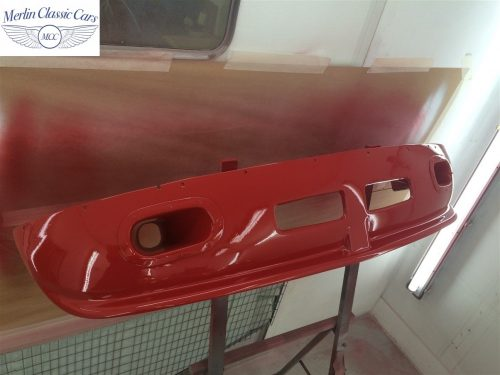 Paintwork Refinishing Example MGB Roadster Off The Gun Finish 1