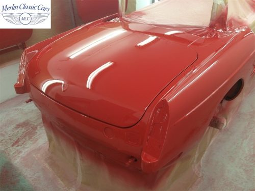 Paintwork Refinishing Example MGB Roadster Off The Gun Finish 5