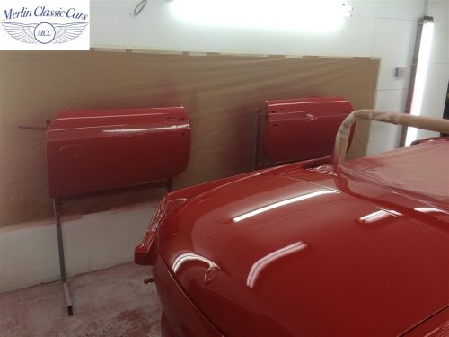 Paintwork Refinishing Example MGB Roadster Off The Gun Finish 6