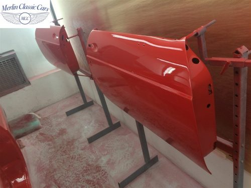 Paintwork Refinishing Example MGB Roadster Off The Gun Finish 8