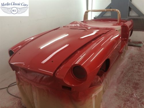 Paintwork Refinishing Example MGB Roadster Off The Gun Finish 9