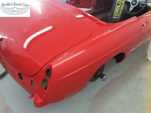 Paintwork Refinishing Example Refinishing 1 Flatted With 1500's Grit Sandpaper MGB Roadster 1