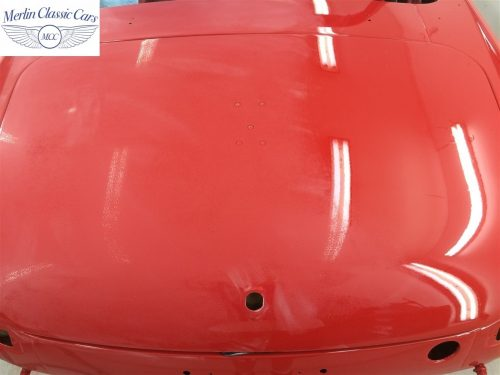 Paintwork Refinishing Example Refinishing 1 Flatted With 1500's Grit Sandpaper MGB Roadster 2