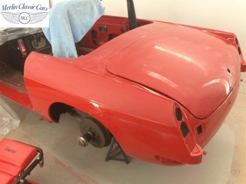 Paintwork Refinishing Example Refinishing 1 Flatted With 1500's Grit Sandpaper MGB Roadster 5