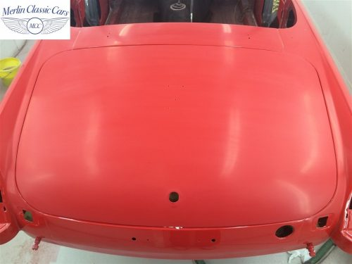 Paintwork Refinishing Example Refinishing 2 Flatted With 2000's Grit Sandpaper MGB Roadster 3