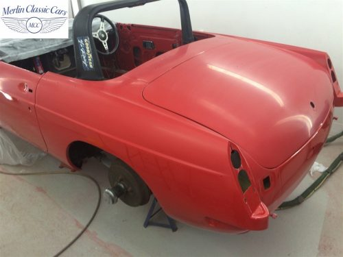 Paintwork Refinishing Example Refinishing 2 Flatted With 2000's Grit Sandpaper MGB Roadster 4
