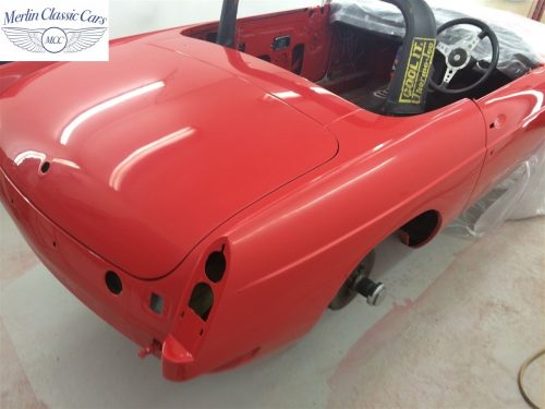 Paintwork Refinishing Example Refinishing 3 Flatted With 3000's Grit Sandpaper MGB Roadster 2