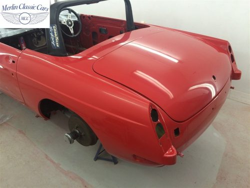 Paintwork Refinishing Example Refinishing 3 Flatted With 3000's Grit Sandpaper MGB Roadster 5